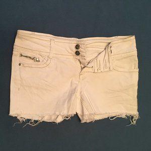 No Boundaries White shorts
